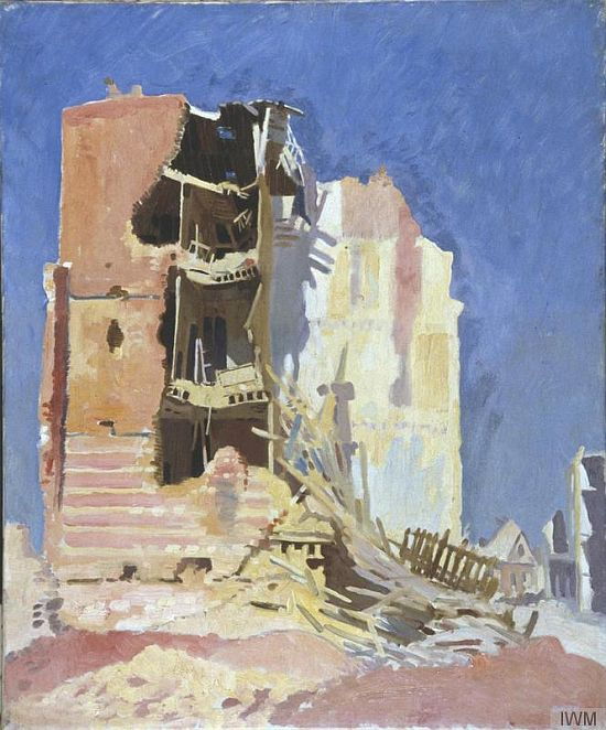 William Orpen, A House at Péronne, 1917