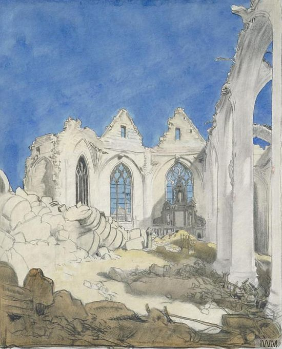 William Orpen, The Church, Péronne
