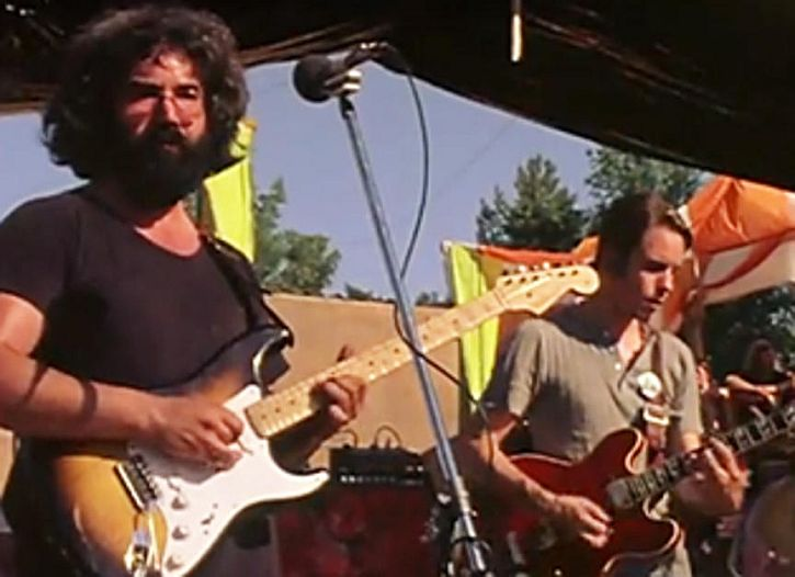 Jerry Garcia and Bob Weir in 'Sunshine Daydream'