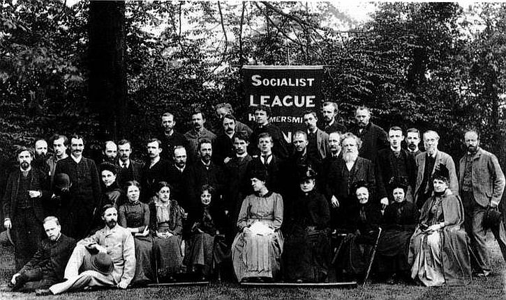 The Hammersmith Branch of the Socialist League, William Morris is fifth from the right in the second row.