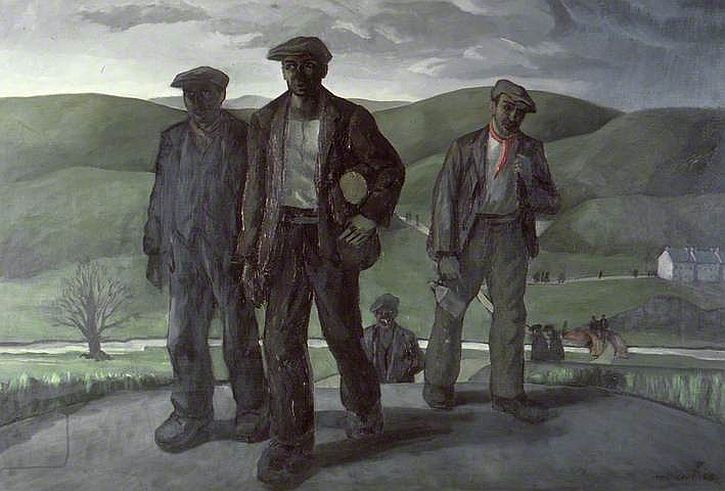 Archie Rhys Griffiths, Miners Returning from Work