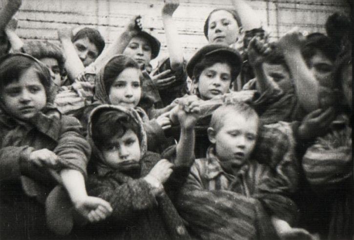 Children at the liberation of Auschwitz