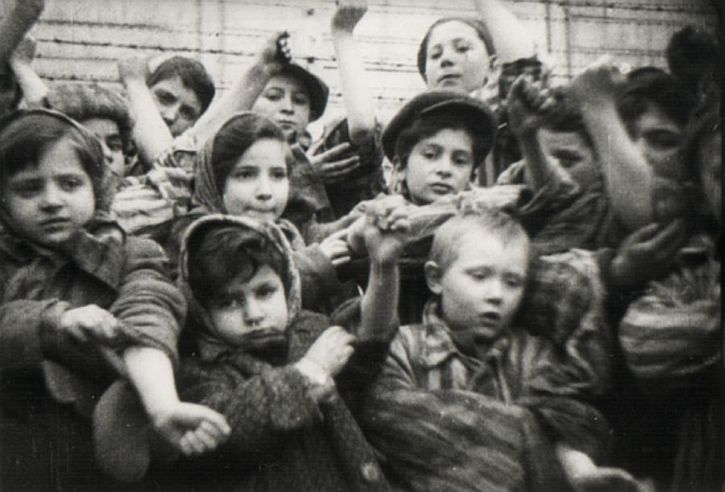 Children at the liberation of Auschwitz