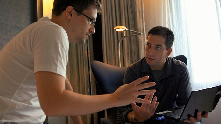 Citizenfour Snowden and Glen Greenwald