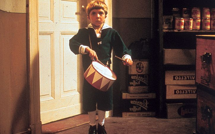 David Bennent as the boy Oskar in the 1979 film adaptation of The Tin Drum