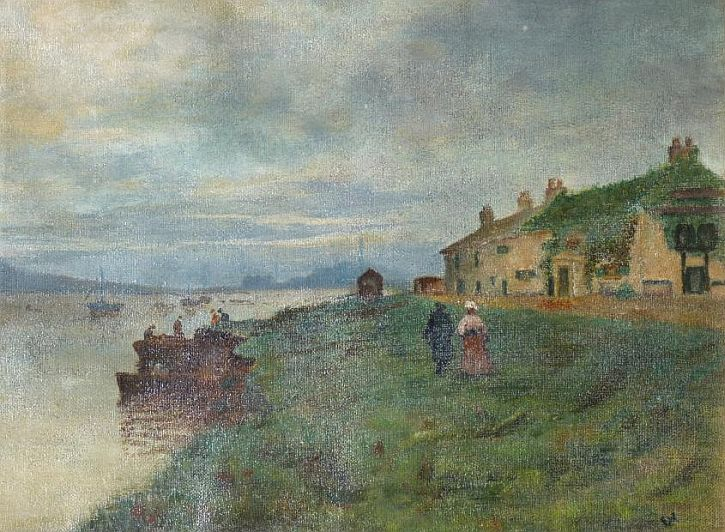 The Ferry Tavern at Fiddler's Ferry by Frank Ward