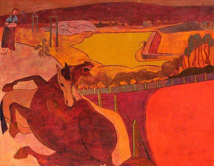 Heinz Koppel, Mare and Foal, c1952