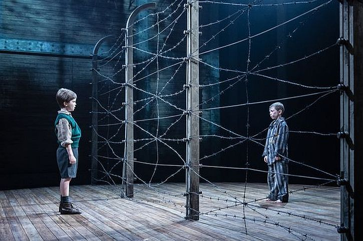 Jabez Cheeseman as Bruno and Colby Mulgrew as Shmuel in The Boy in the Striped Pyjamas