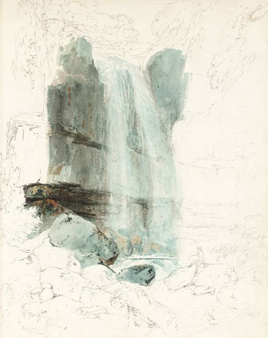 The Waterfall of Melincourt, Vale of Neath, Abergarnedd 1795 by Joseph Mallord William Turner 1775-1851