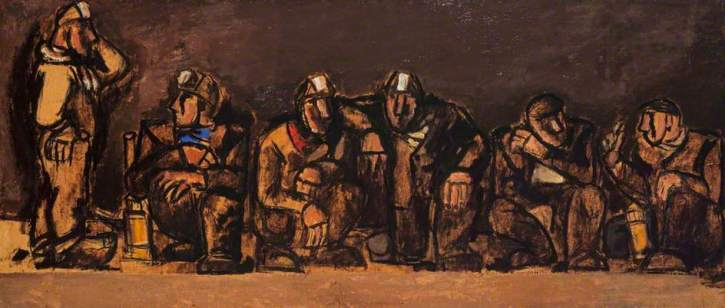Josef Herman, Miners (Study for Festival of Britain Mural), 1950