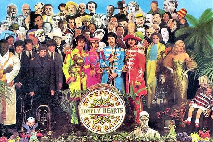 Peter Blake's Sgt Pepper album cover