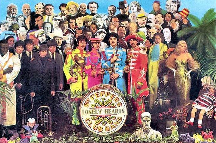 Peter Blake's Sgt Pepper album cover