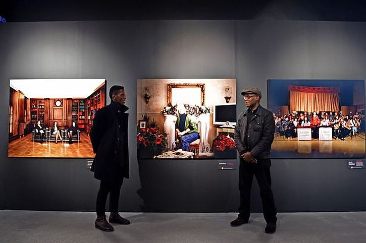 Photographer and artist Othello De Souza-Hartley (Left) and Marc Boothe of B3 Media