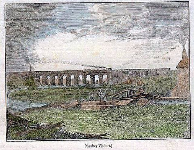 "Sankey Viaduct Illustration from the ""Penny Magazine, 1830"