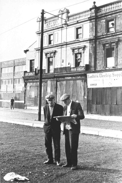 Tricia Porter, Men in Myrtle Street, 1972