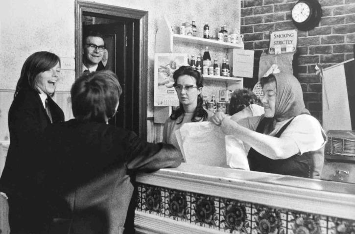 Tricia Porter, The Chippy in Falkner Street, 1972