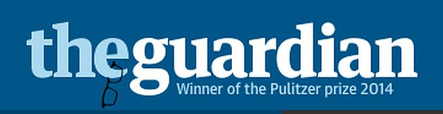 The Guardian online masthead on Saturday: Alan Rusbridger hangs up his glasses