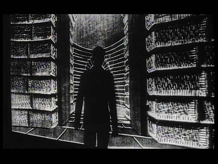 The Trial: the doorkeeper at the entrance to the Law in the Orson Welles film