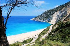 The road down to Myrtos beach