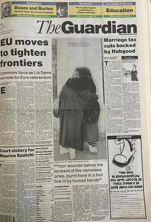 Rusbridger's first edition, Feb 1995