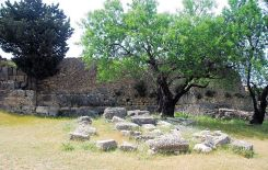 The ruins of Agios Fanentes monastery