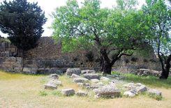The ruins of Agios Fanentes monastery
