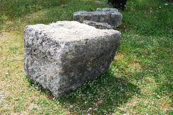 The great building blocks of the ancient citadel used to build the medieval monastery