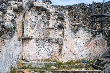 Frescoes on the medieval church walls