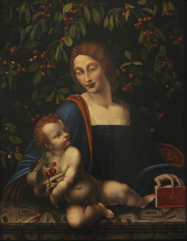 The Virgin with the Child, with Cherries and a Cherry Tree, Leonardo (school of)