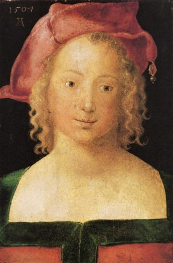 Albrecht Dürer, Portrait of a Young Girl with Red Beret, 1507
