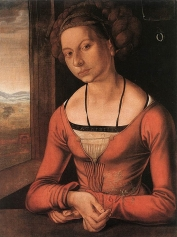 Albrecht Dürer, Portrait of Young Woman with Her Hair Done Up, 1497