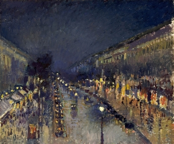 Camille Pissarro, The Boulevard Montmartre at Night, 1897