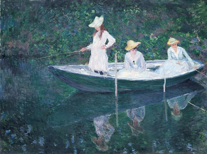 Claude Monet, In the Rowing Boat at Giverny, 1887