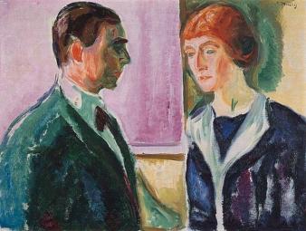 Edvard Munch, Käte and Hugo Perls, 1913