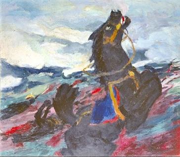 Emil Nolde, Battlefield, 1913