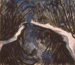 Erich Heckel, Canal In Winter, 1913