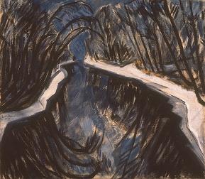 Erich Heckel, Canal In Winter, 1913