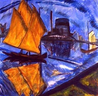 Erich Heckel, Yellow Sail (Facory By Water),1913