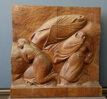 Ernst Barlach, The Abandoned Ones, Walnut wood, 1913