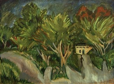 Ernst Ludwig Kirchner, House beneath Trees (Fehmarn), 1913