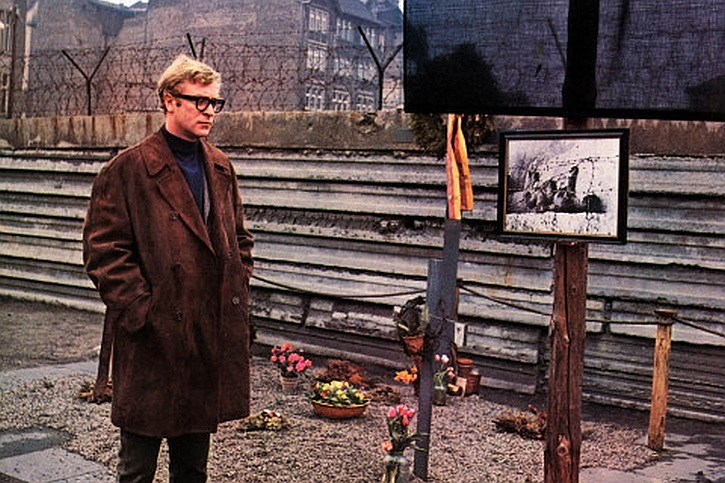 Michael Caine as Harry Palmer in the 1966 film of Funeral in Berlin