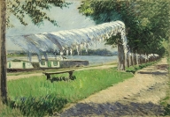 Gustave Caillebotte, Laundry Drying on the Banks of the Seine, 1892