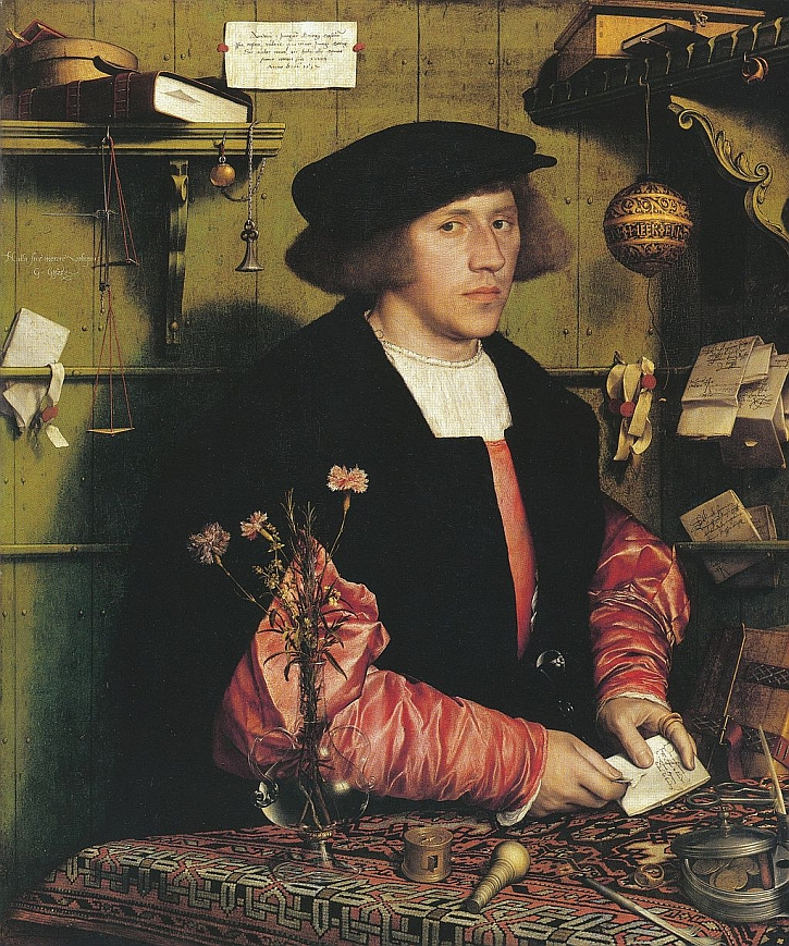 Hans Holbein, Portrait of Georg Gisze, 1532