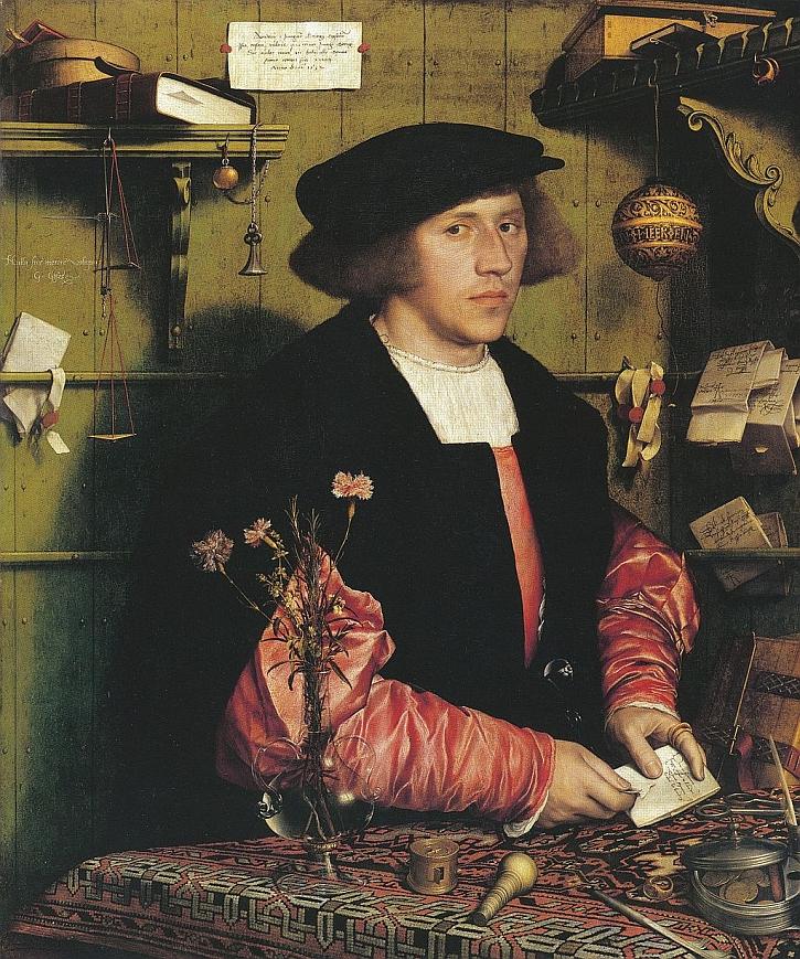 Hans Holbein, Portrait of Georg Gisze, 1532