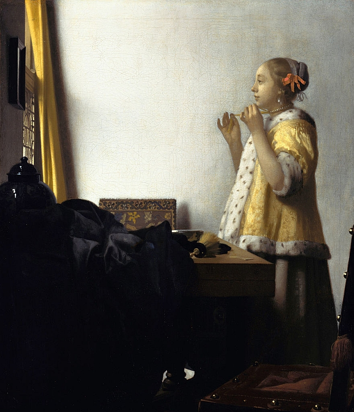 Jan Vermeer, Young Woman with a Pearl Necklace, 1662
