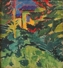 Karl Schmidt-Rottluff, House under the Trees, 1910