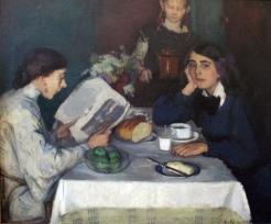 Leo von König, At the Breakfast Table, 1907
