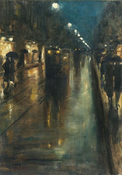 lesser ury night street scene in berlin leipziger stra e 1889 that 39 s how the light gets in. Black Bedroom Furniture Sets. Home Design Ideas