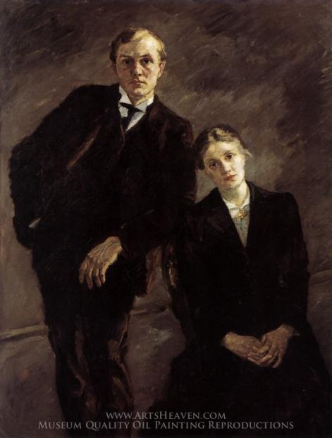 Max Beckmann, Double-Portrait of Max Beckmann and Minna Beckmann-Tube, 1909