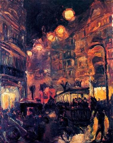 Max Beckmann, Street at Night, 1913